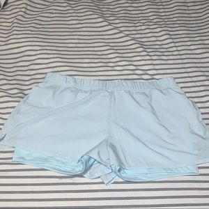 NIKE BABY BLUE 2 - IN - 1 SHORTS